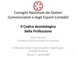 Deontologia ODCEC Monza - Ordine dei Dottori Commercialisti