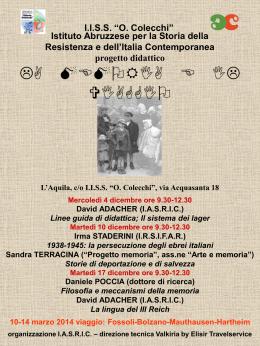 La memoria e il viaggio - Ufficio Scolastico Regionale per l`Abruzzo