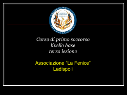 III Lezione - AS.SO.VO.CE.