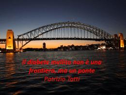 Il diabete mellito non è una frontiera, ma un ponte