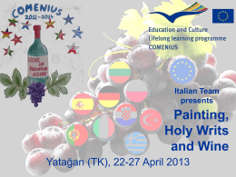 Italian painting art, Holy writs and Wine