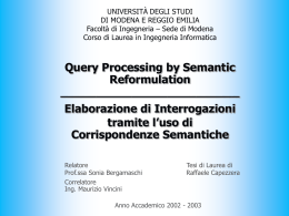 Query Processing by Semantic Reformulation