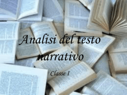 analisi del testo narrativo - Home