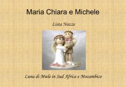 Maria Chiara e Michele