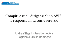 Presidente Avis Regionale Emilia