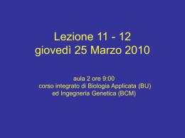 Lez_11-12_Bioing_25-3-10 - Università degli Studi di Roma Tor
