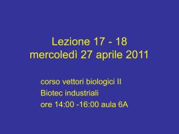 Lez_17-18_vettori_27-4-11 - Università degli Studi di Roma Tor