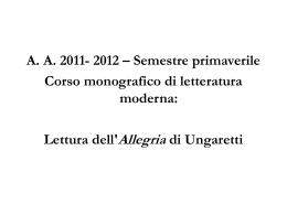 Giuseppe Ungaretti, L*Allegria