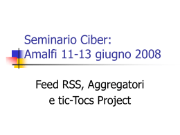 RSS, aggregators, tic-toc