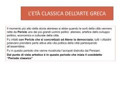 L`ETÀ CLASSICA DELL`ARTE GRECA