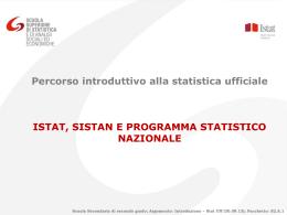 Istat, Sistan e Programma statistico nazionale