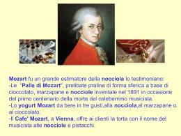 Mozart e le nocciole