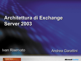 Architettura di Exchange Server 2003