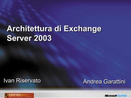 Architettura di Exchange Server 2003