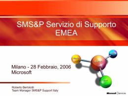 SMS&P Servizio di Supporto EMEA - Center