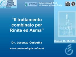 Il trattamento combinato per rinite ed asma