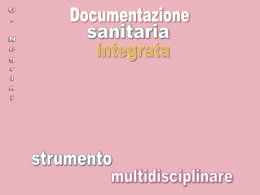 Il documento sanitario integrato come strumento