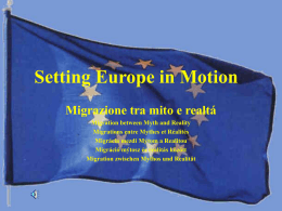 Setting Europe in Motion
