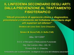 Dott. M. Bovio - Attuali procedure di approccio clinico e
