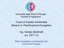 Piano Energetico e Ambientale del Comune di Perugia