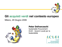 Peter De Franceschi - Città metropolitana di Milano
