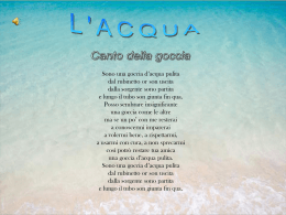 l`importanza dell`acqua