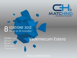 Scarica il Vademecum Estero Matching