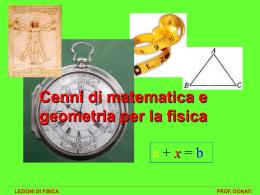 matematica per la fisica