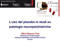 Il placebo nelle sperimentazioni cliniche