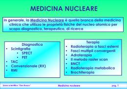 "Slide ""Medicina nucleare"