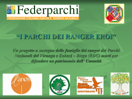 Power point del Progetto Virunga