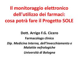 Il monitoraggio elettronico dei farmaci (Progetto SOLE)