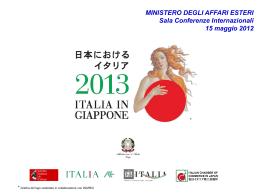 Italia in Giappone 2013 - Ministero degli Affari Esteri