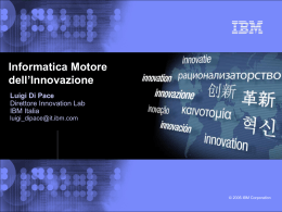 IBM blue-and-white template with image