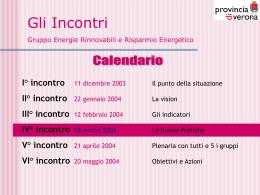 I° incontro - Provincia di Verona