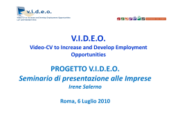 VIDEO Video-cv to Increase and Develop Employment Opportunities
