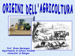 1. Origini agricoltura - Università di Bologna