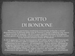 GIOTTO DI BONDONE - Claudia Maestranzi