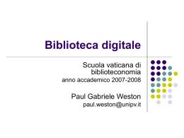 Applicazioni di biblioteca digitale