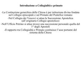 Introduzione a Collegialità e primato