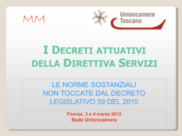 Slide 2 - Camere di Commercio