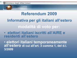 Referendum 2009 - Informativa in Power Point