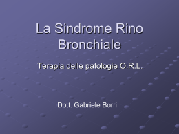 La Sindrome Rino Bronchiale Terapia.