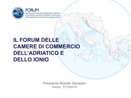 il forum delle camere di commercio dell`adriatico e dello ionio