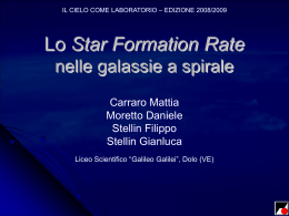 Calcolo dello Star Formation Rate in venti galassie a spirale