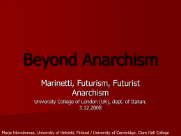Beyond Anarchism - University of Helsinki