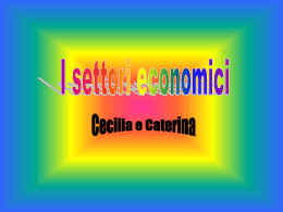 I settori economici - Istituto comprensivo Carpi Nord