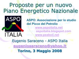Eugenio Saraceno - Proposte per un nuovo
