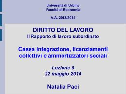 Università di Urbino Facoltà di Economia sede di Fano A.A. 2