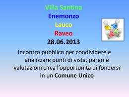 Villa Santina, Enemonzo, Lauco Raveo